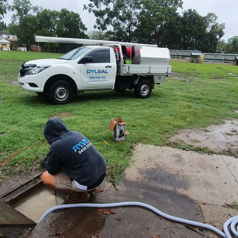 Plumber Inspecting Drain in Kellyville